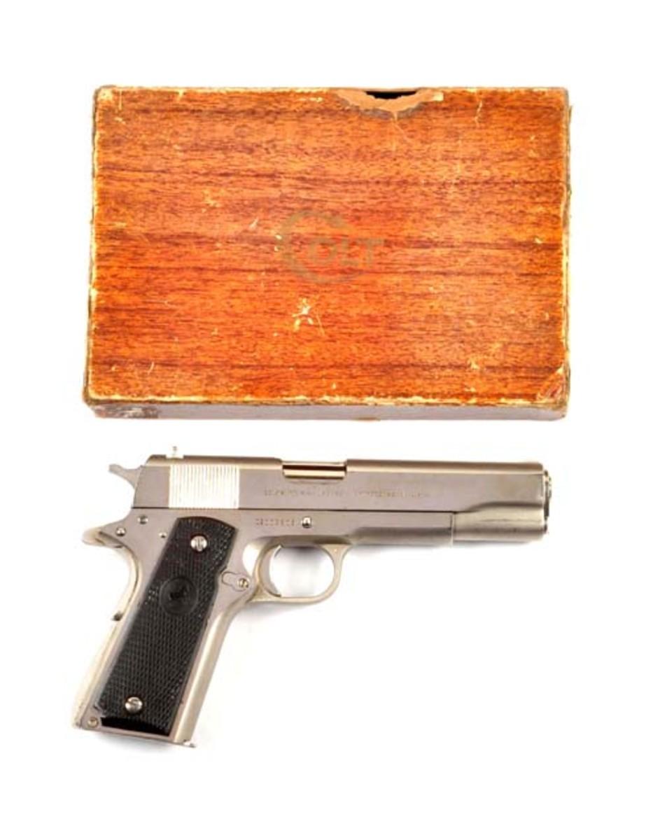 Boxed Colt Pre-Series 70 Nickel 1911 .38 Super