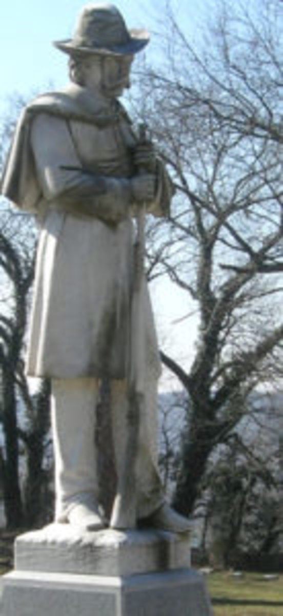 Monument to Confederate soldiers in cemetery in Frankfort, Kentucky