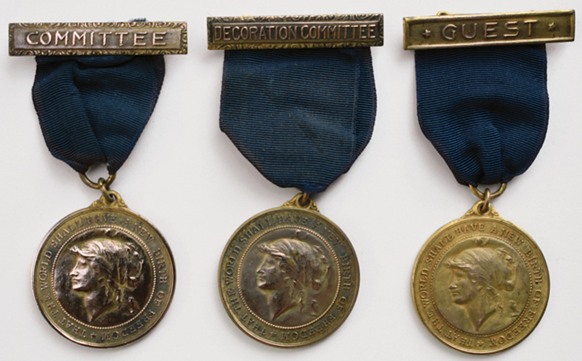 Often, the brooches on Allied War Commission medals represent the role of the person receiving the medal.