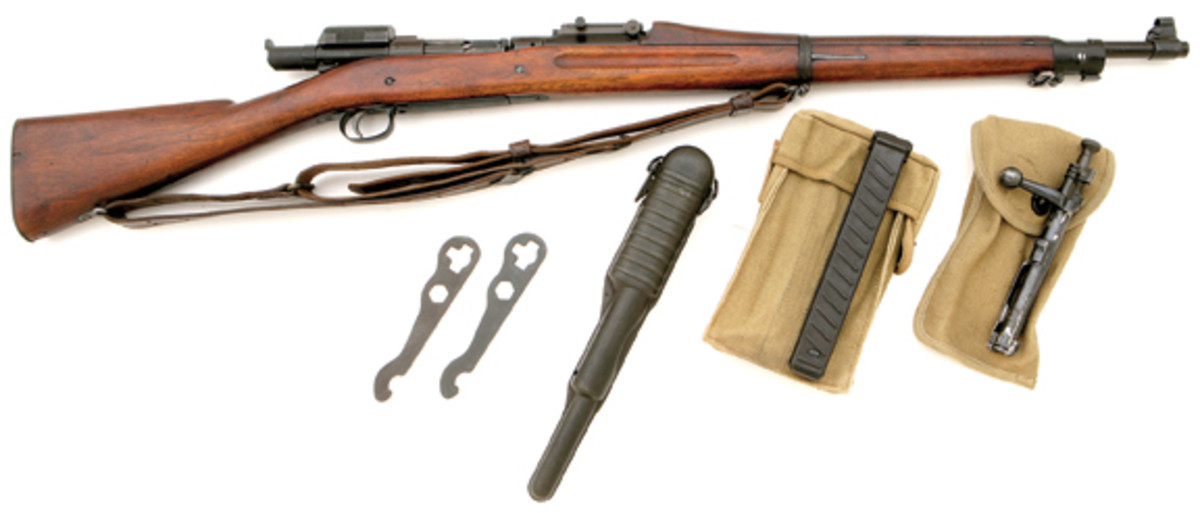 Exceptional U.S. Mark I rifle with U.S. model 1918 Pedersen device. SOLD: $48,875.