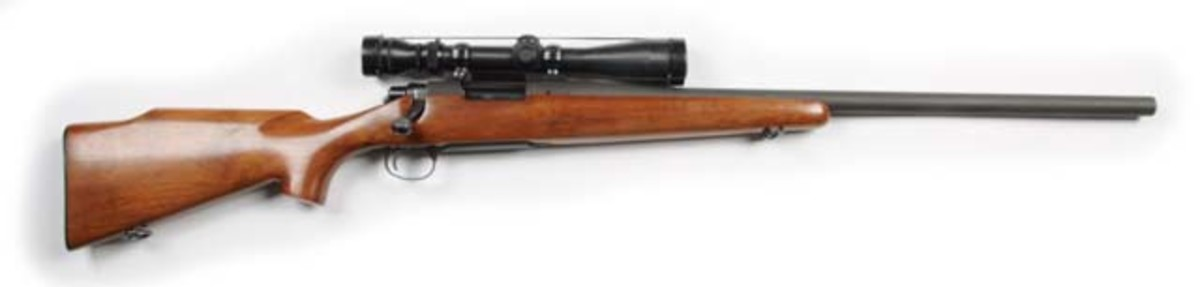 Remington Model 40 sniper rifle of the type used by the US Marine Corps in Vietnam, in original, unmodified condition, $26,400. Morphy Auctions image