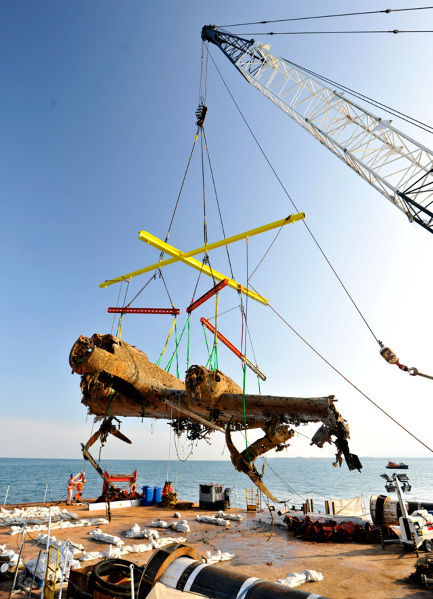 """The Flying Pencil"" raised in 2013 from the waters of the Goodwin Sands, three miles off the east coast of England."