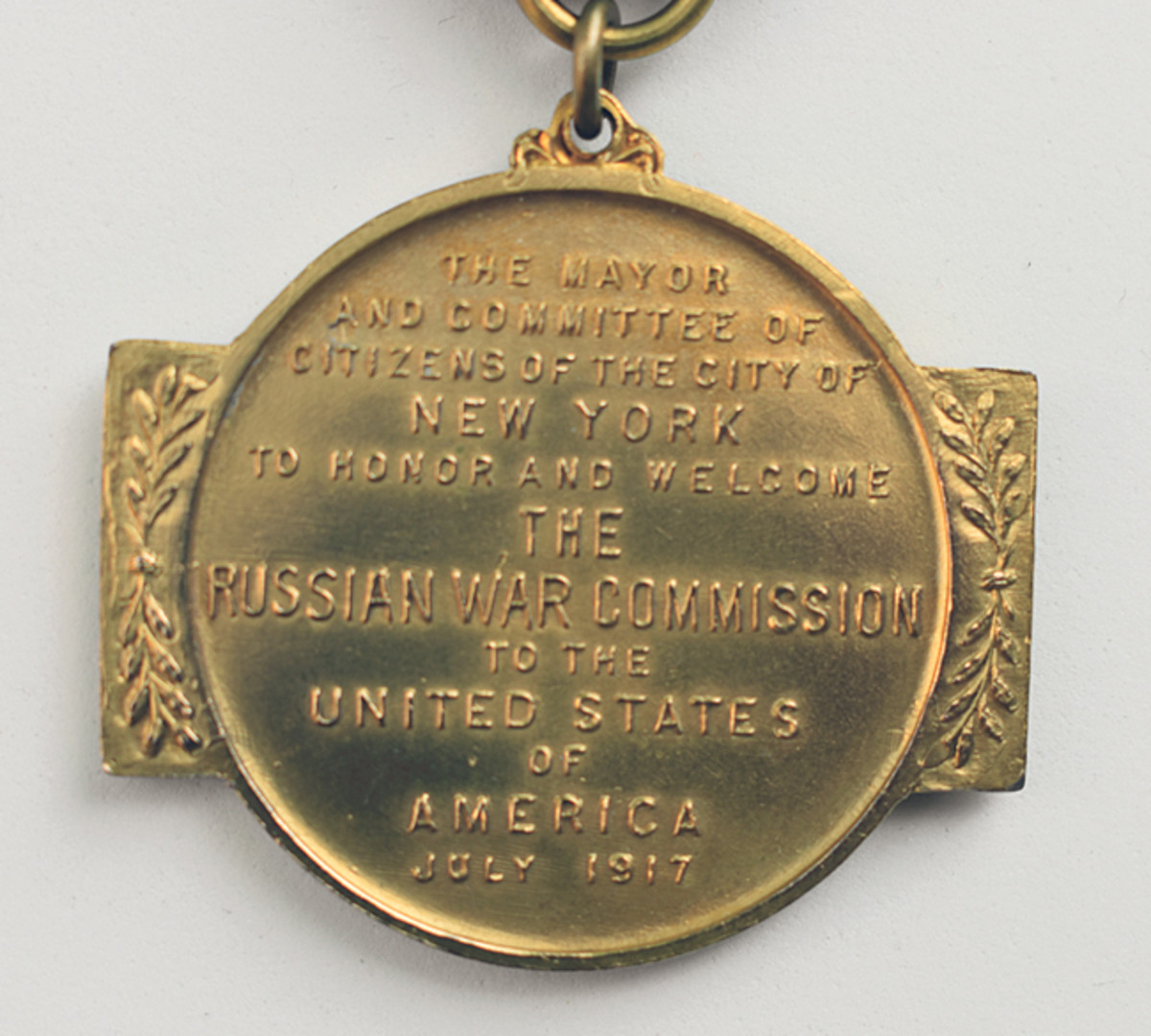 As additional Allied Commissions visited, medals noted the month and year of their arrival.