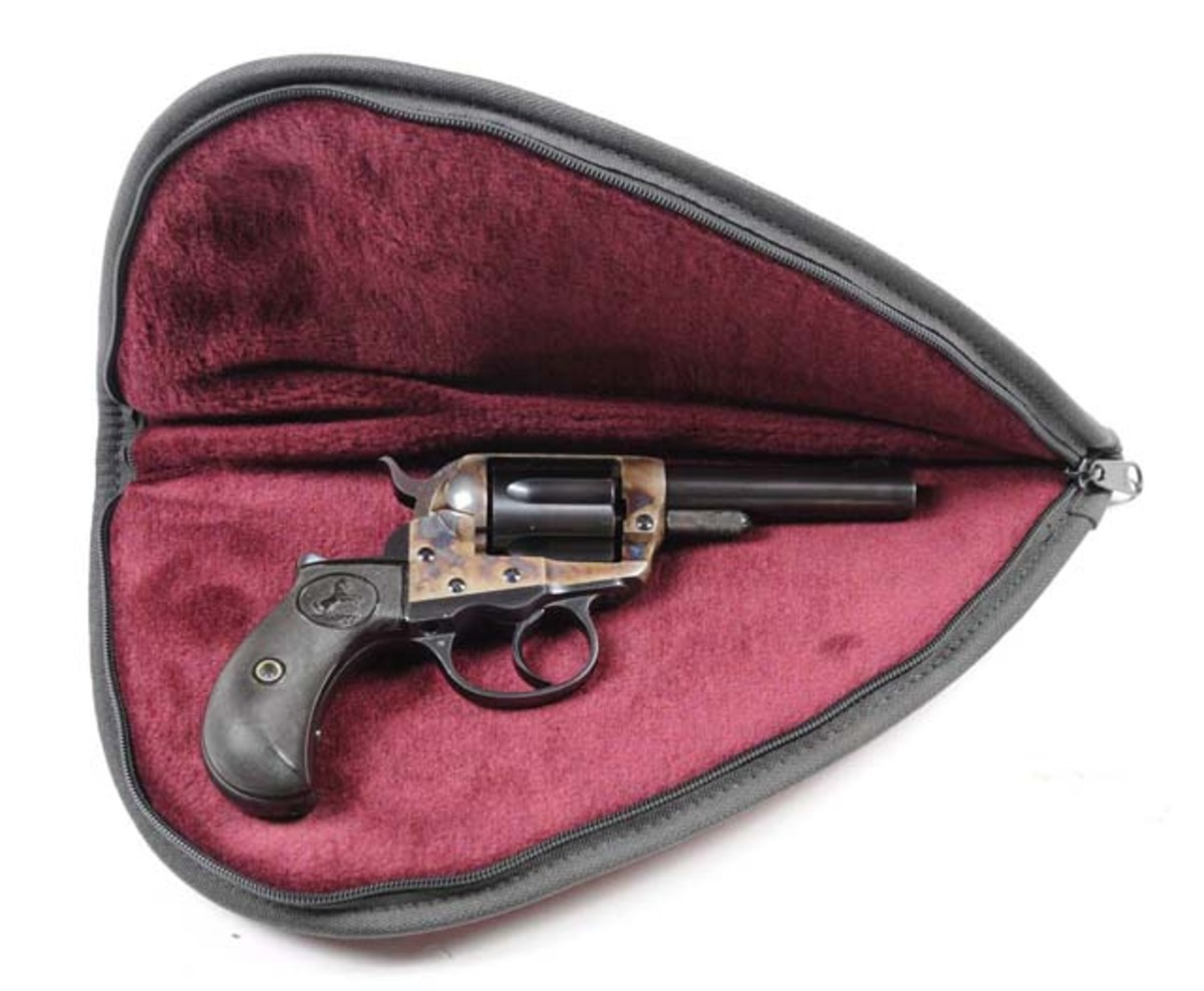 Never-fired Model 1877 'Lightning,' also known as a 'Shop Keeper' or 'Sheriff's Model,' $8,400. Morphy Auctions image