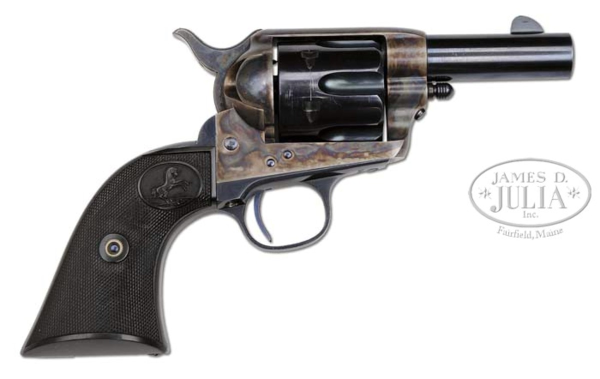 Colt Sheriff's Model SAA Revolver Believed to be the Finest Example Extant (Wes Adams Estate Collection). Estimated for $125,000-175,000, it sold for $281,750.
