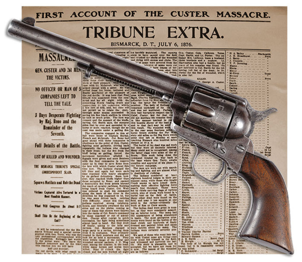 Colt Single Action Army SN 5773 Positively Proven to Have Been Used by One of Custer's Men During the Infamous Battle of the Little Bighorn