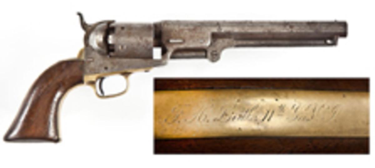 Inscribed Colt 1851 Navy (estimate $4,000-$5,000)