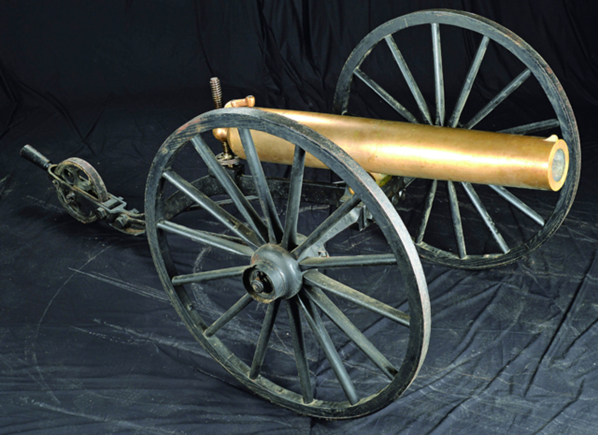 From the extraordinary Springfield Arsenal Collection of rare cannons is the Dahlgren heavy 12 lb. bolt Howitzer on original carriage, SN#52, and estimated at $60,000-90,000.