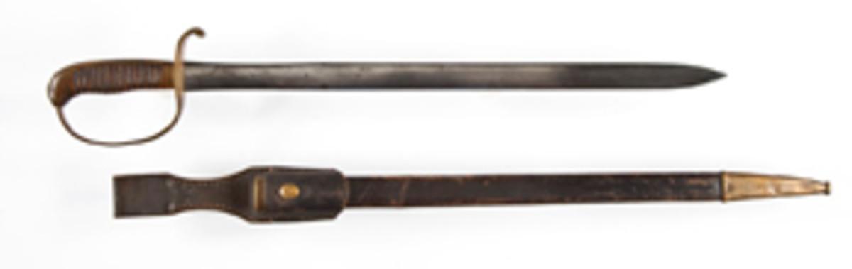 Franco-Prussian Era German Police Sword (estimate $300-$500)