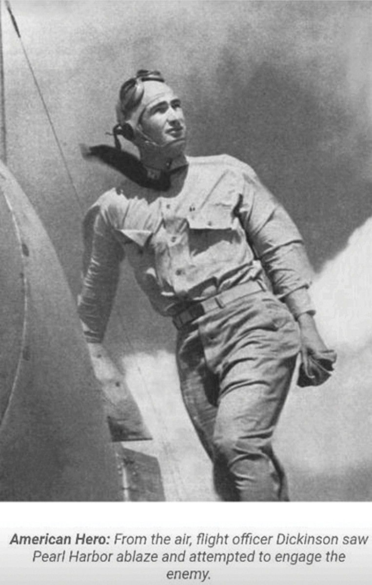 USN Lieutenant Clarence E. Dickinson, Jr., a 1934 Naval Academy graduate, was piloting a Douglas SBD-3 off the Hawaiian Islands with William C. Miller on the morning of December 7, 1941. He would later write confirming Miller's death in the back seat of the aircraft before he, himself, was forced to bail out — but not before the duo had scored at least one victory against Japanese aircraft.