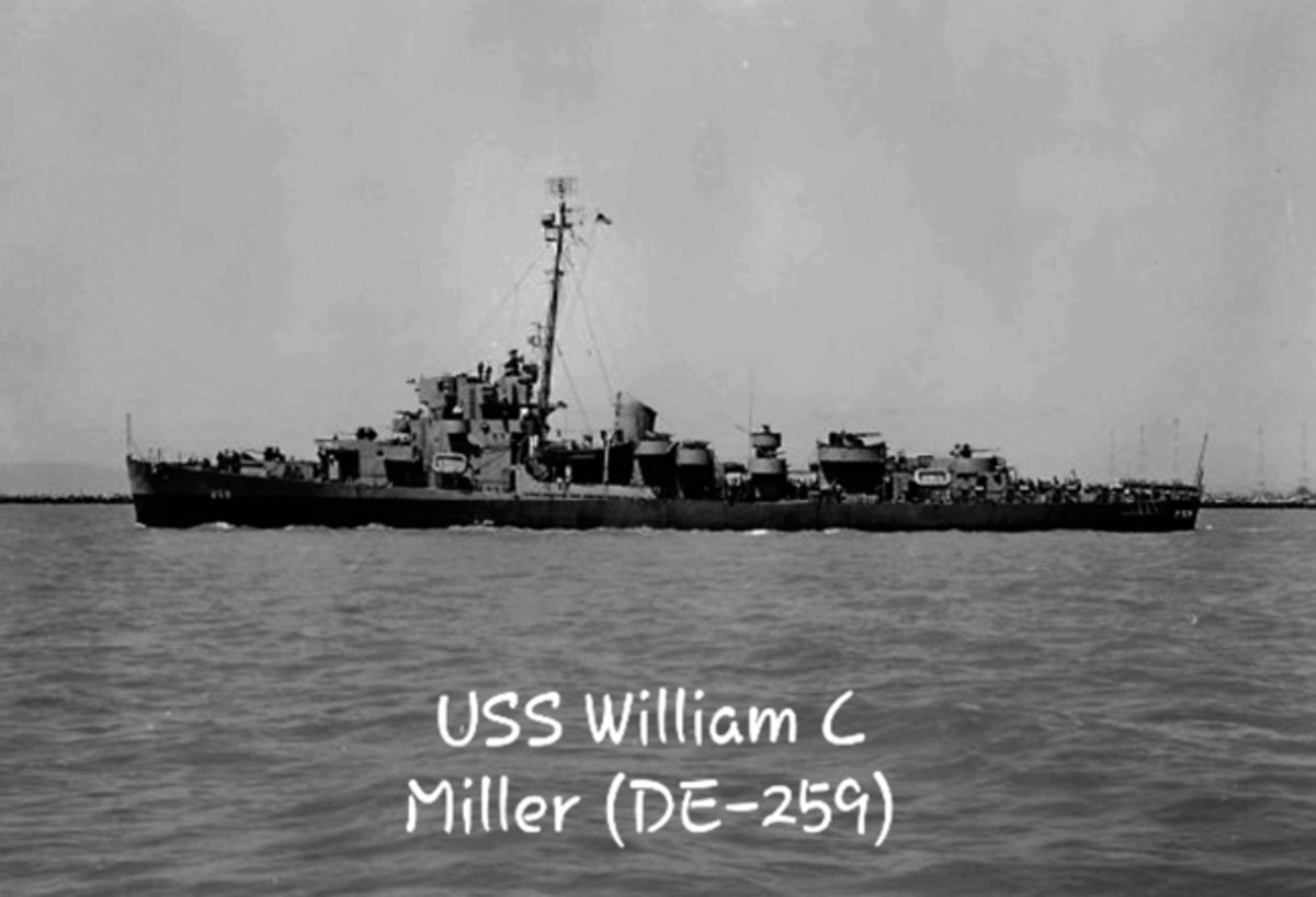 In 1943, an Evarts-Class destroyer escort built was christened in Miller's honor as the USS William C Miller (DE-259). She plied the Pacific for the rest of the war in search of the enemy and retribution, earning seven battle stars — a very high number for a ship of her type.