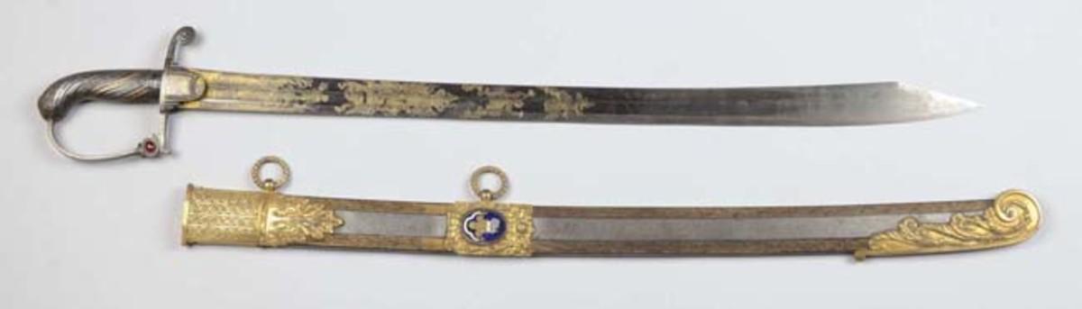 English Napoleonic Era Officer's Sword & Scabbard