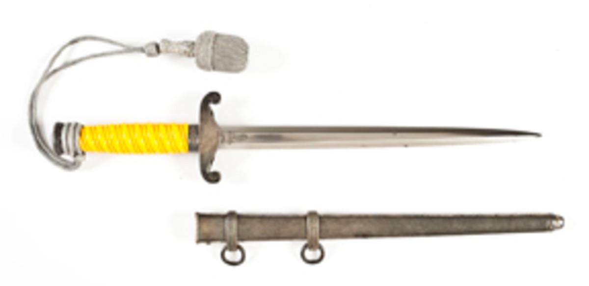 Nazi Army Dagger w/ Scabbard & Porte Pee (estimate $350-$550)