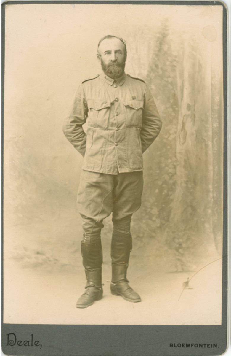 After serving in Burma, 1891-92 with the 52nd Infantry at Katchin Hills and the Nanigkhan Colume, the Hon. Sir Edward Arthur Dalzell, CB, took command of the 43rd Infantry and went to South Africa during 1899-1902 (where this photo was taken). He was the commandant of Heilbron and Section of Line of Communications and took part in the Relief of Kimberly, Paardeberg, Poplar Grove, and Dreifontein. He retired a full colonel in 1908.Snapshots