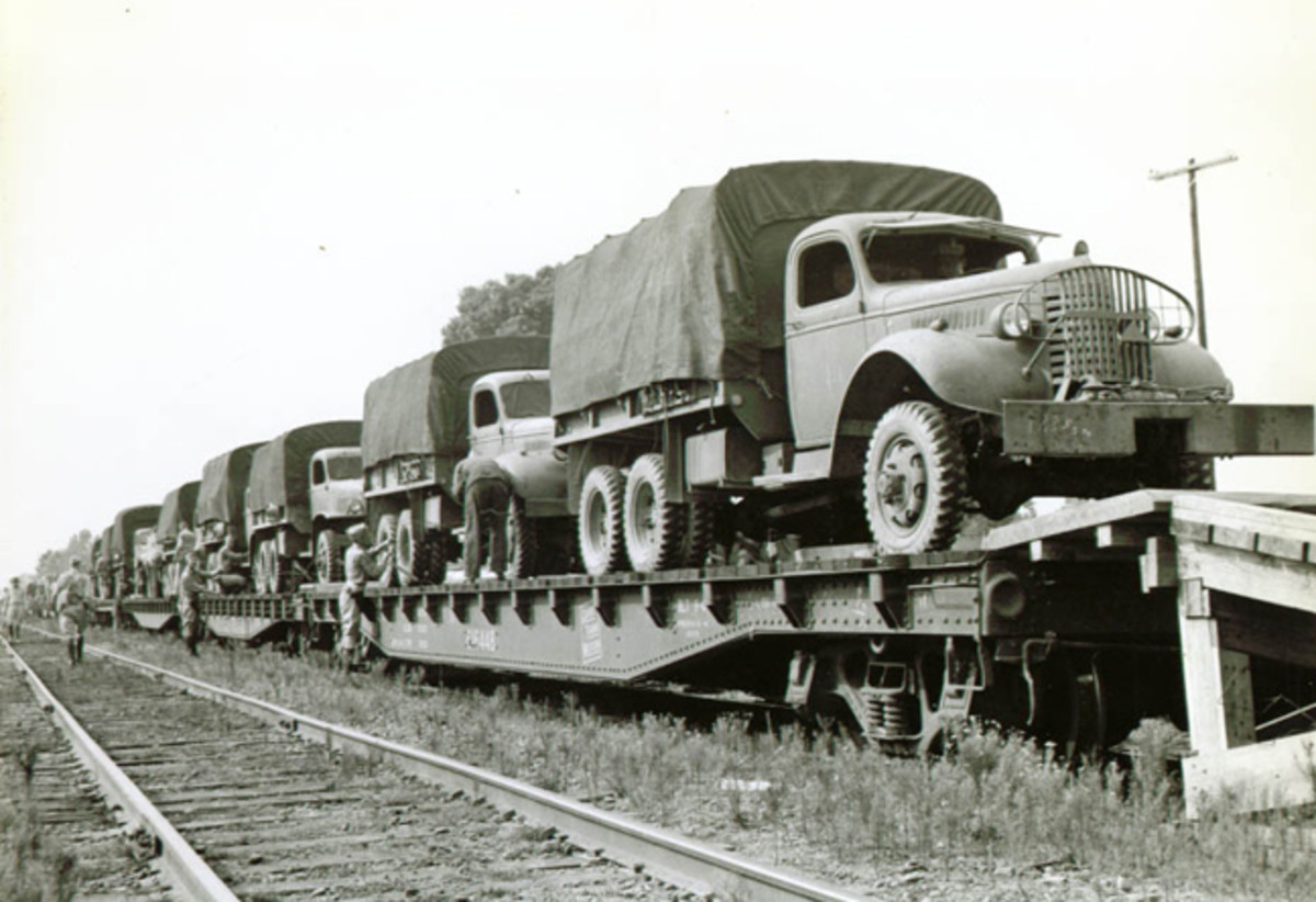 "In 1939, the Army solicited bids for a truck that would ultimately become the CCKW. Mack, Studebaker, and Yellow Truck and Coach responded, with the latter giving it the title ""ACKWX"" (A-Model year, 1939; C-conventional cab; K-selective front-wheel drive; W-tandem rear axles (drive); X-nonstandard driveline). ""353"" added at the rear of the name indicated the chassis code."