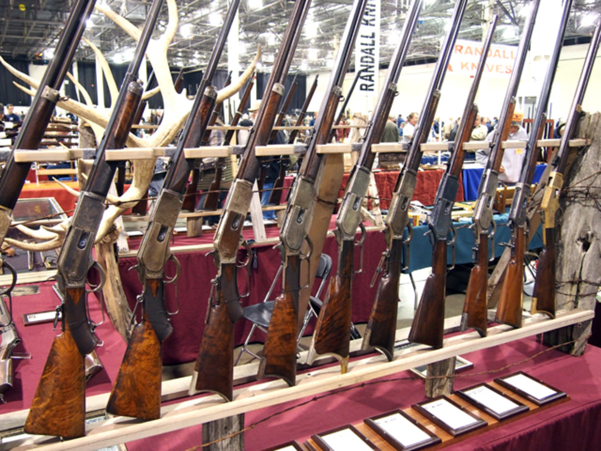 The Winchester was arguably the gun that tamed the west and there are plenty to be found at the Michigan Antique Arms Show.