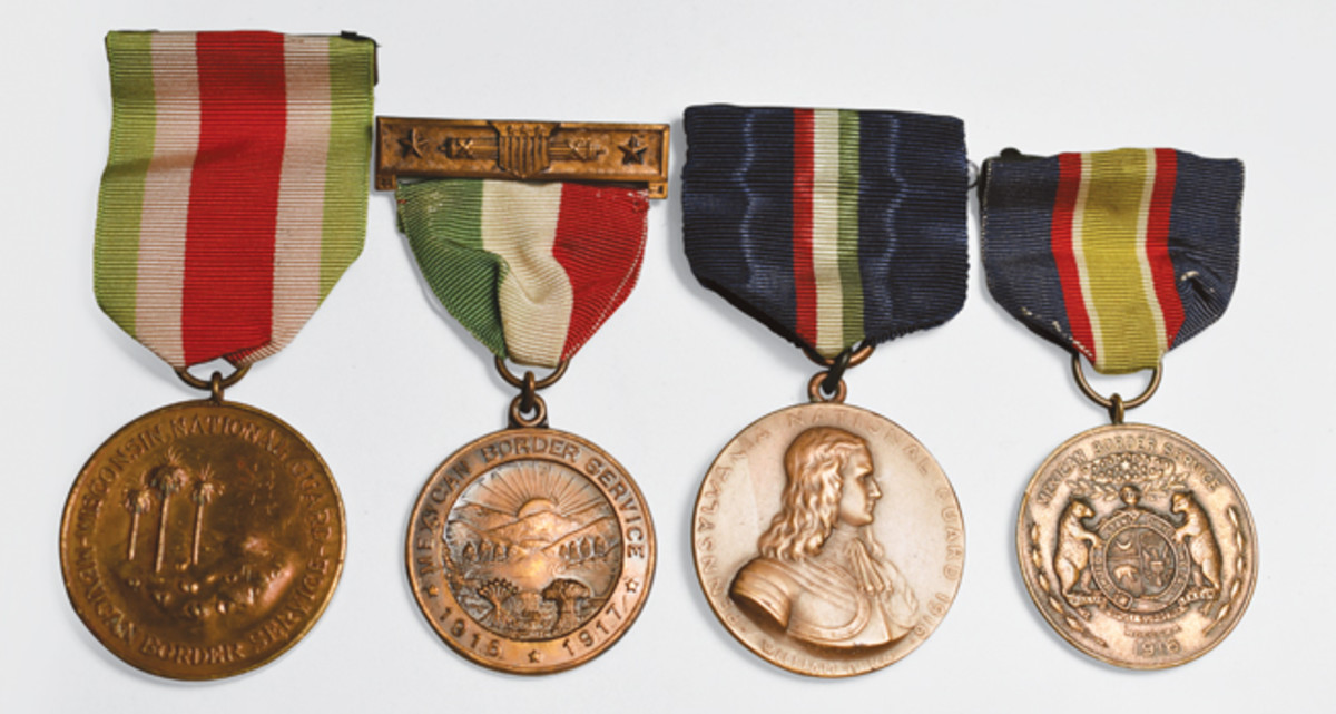 Examples of State issued Mexican Border Service medals included Wisconsin, Ohio, Pennsylvania, and Missouri along with 12 other states.