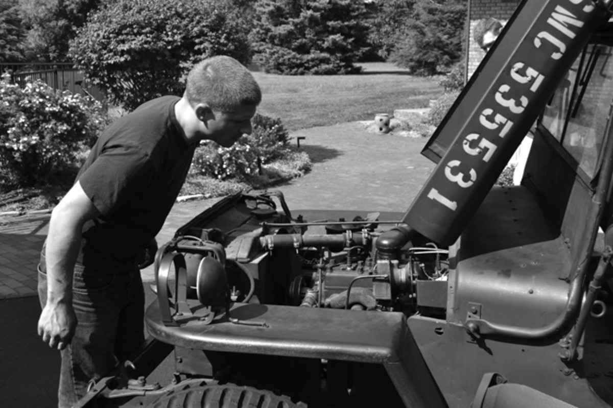 Engine stopped while you are in the field? Don't worry—it's usually one of two things: Fuel or spark. This article will show you the steps to diagnose and, hopefully, repair your vehicle so that you can get back on the road! Photo courtesy of The Furious Fourth WWII Living History Group