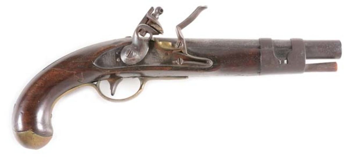 US North Berlin Model 1811 Transitional Model with 1812 modification and iron double-strap barrel band, one of only 550 manufactured. Photo - Morphy Auctions