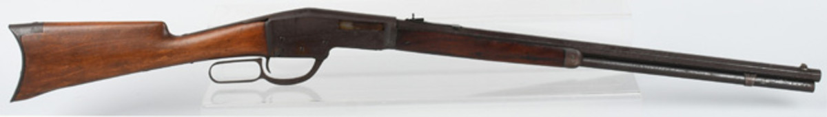 Winchester experimental or prototype .32-.40 caliber lever-action rifle found in a California gun shop that went out of business in 1942, $9,600
