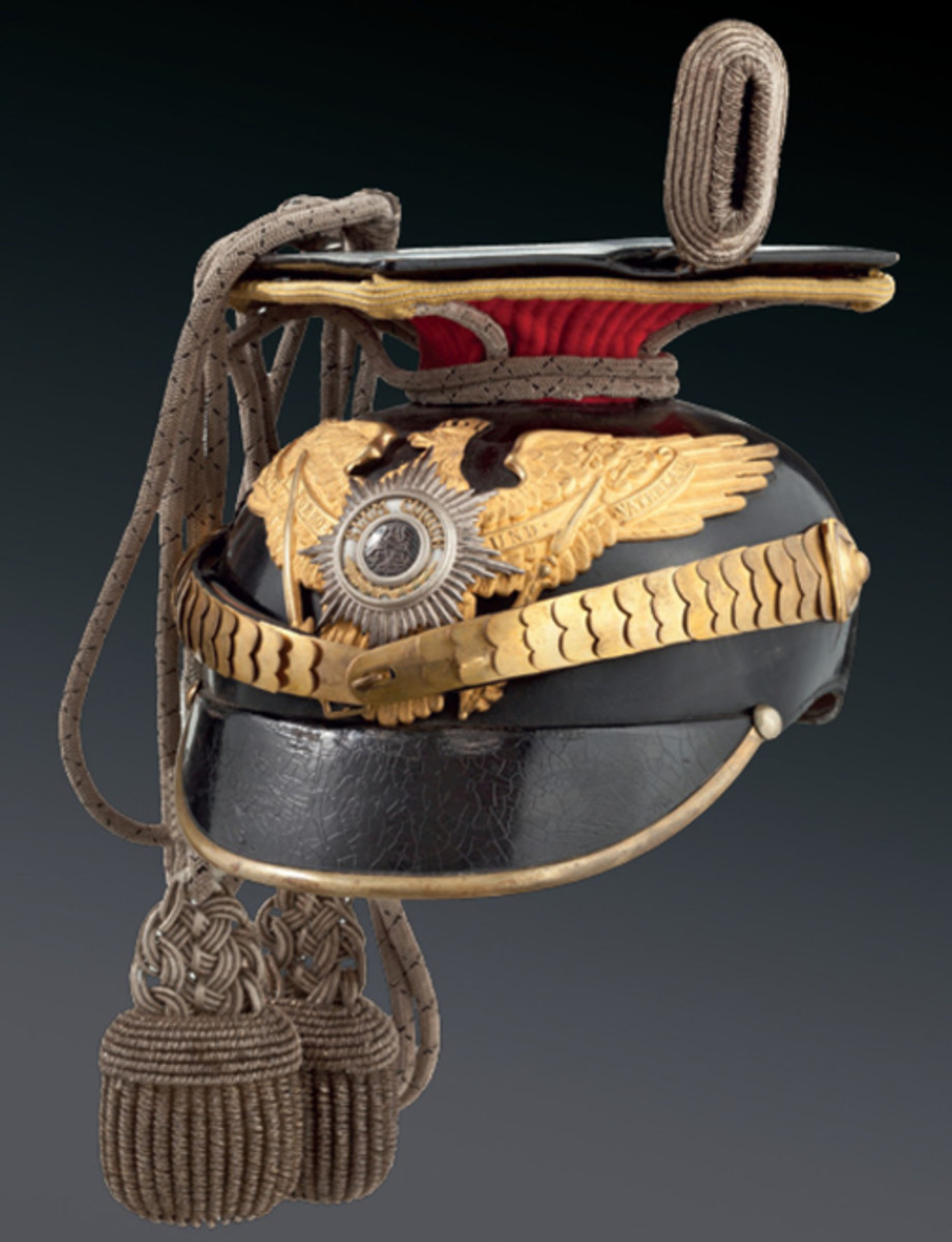 Czapka for an officer of the 2nd Uhlans Guard Regiment about 1900. SP: 4900 Euros
