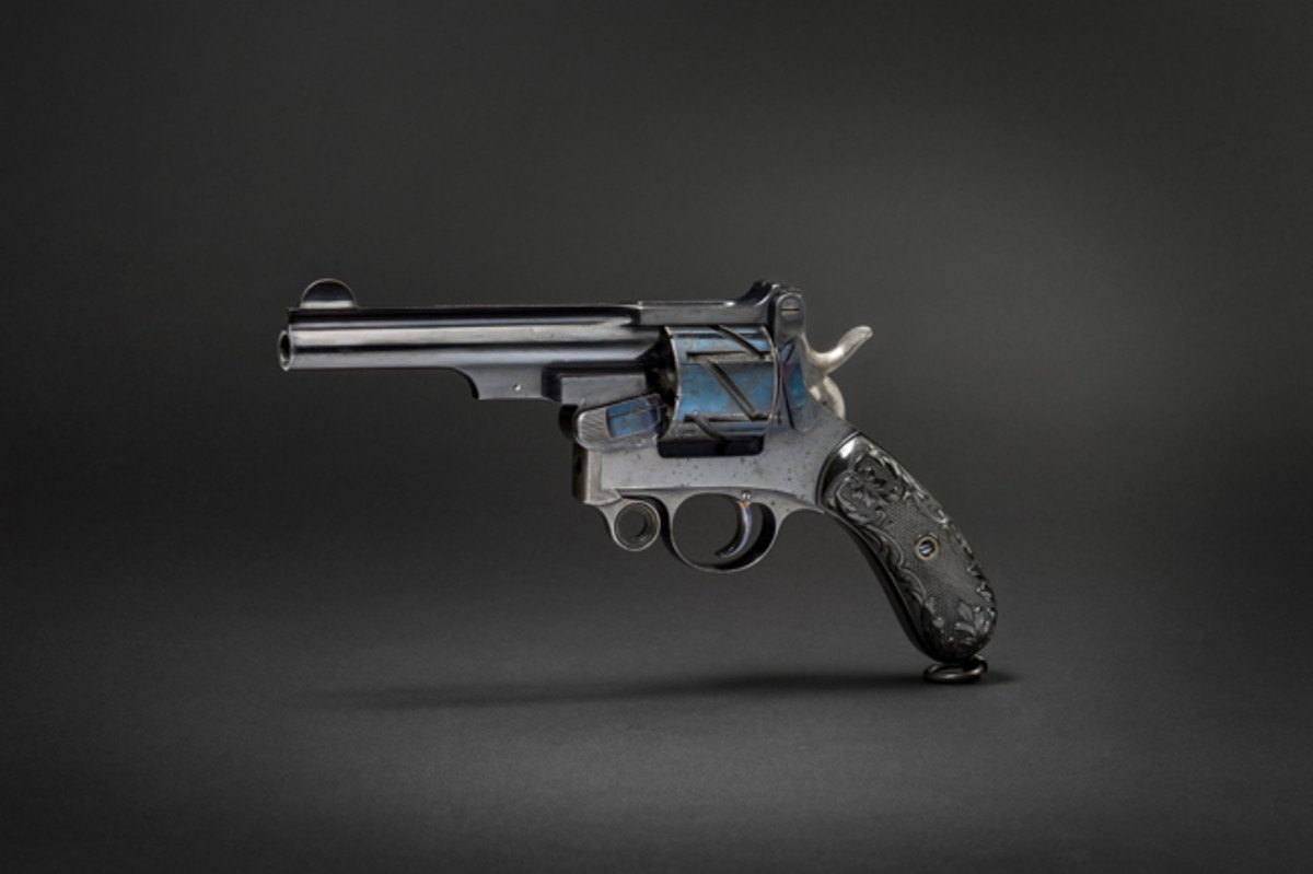 """A Mauser Mod. 1878 (""""Zick-Zack-Revolver""""), 2nd version in good condition."""