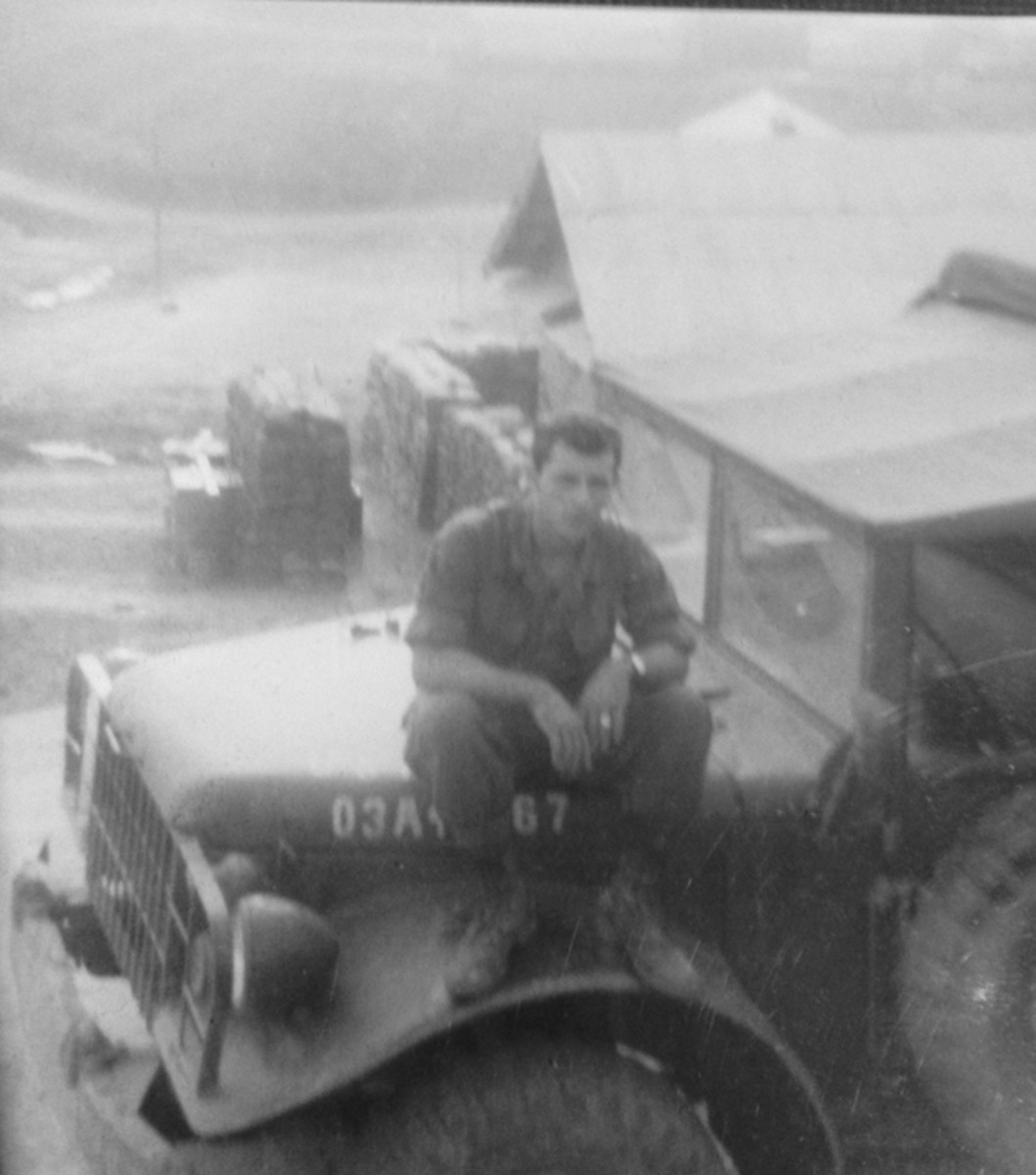 Tommy was then made into the Courier Driver for the Battalion. He drove a mid-sixties Dodge M37B1 for this new job — a daily run from Firebase Nancy to 45th Engineer Group Headquarters in Phu Bai.