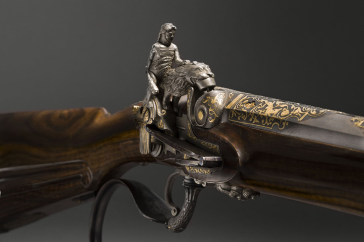 Superb Spanish percussion flintlock, made in the middle of the 19th century.