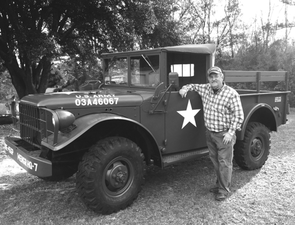 "Tommy has been tinkering and fine-tuning his M37 over the winter months. Look for him and his M37 at the spring shows. They are truly a ""pair of Veterans."""