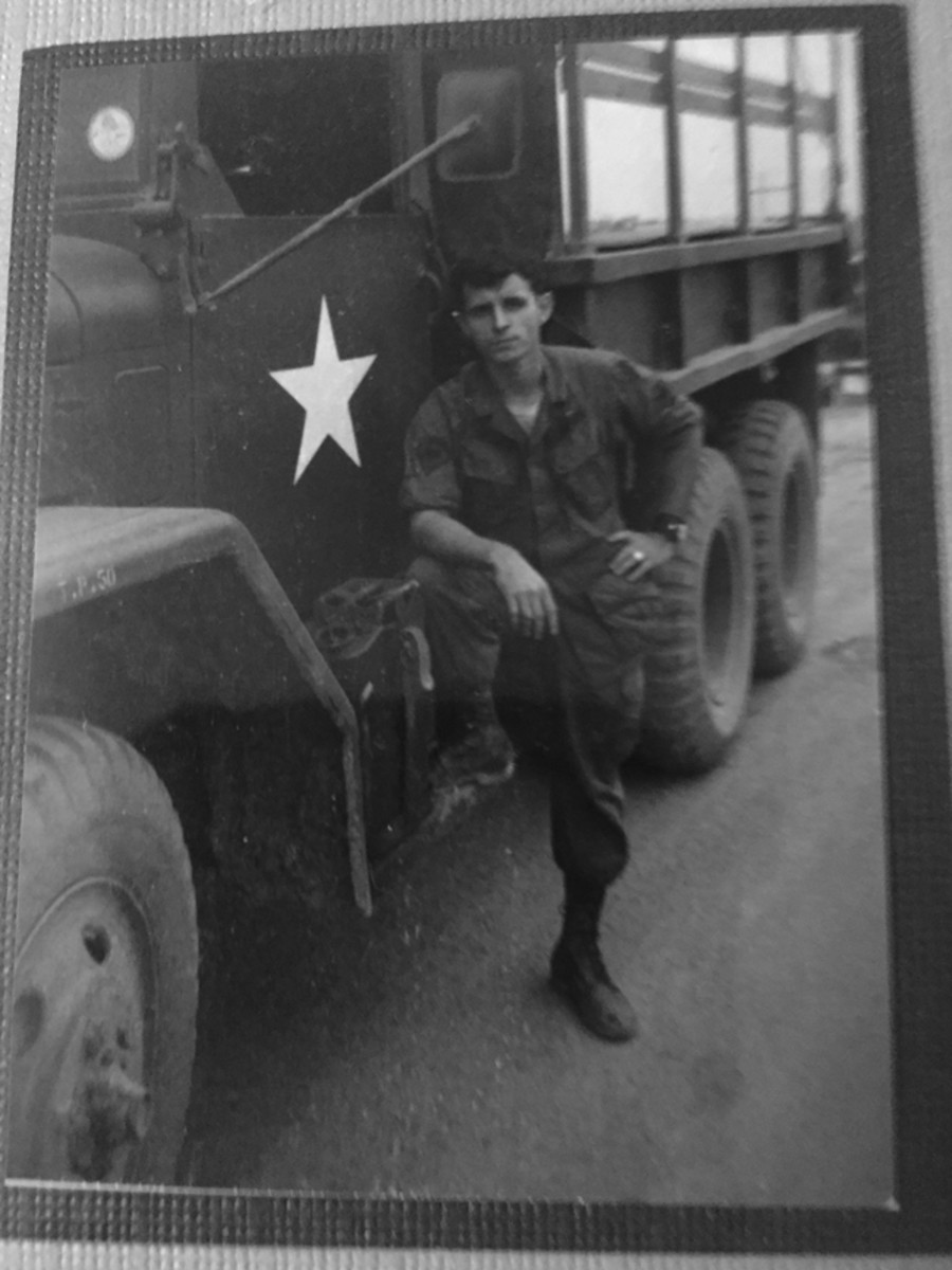 Soon after arriving in Vietnam, Tommy was assigned to the 14th Combat Eng. Bn. at Fire Support base Nancy. After getting a temporary assignment as the Battalion mail truck driver, he was given his first truck — a deuce and a half.
