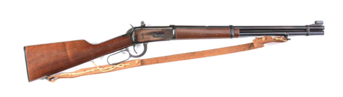 An example of one of the many firearms available to collectors at affordable price points was this Winchester Model 1894 lever-action rifle produced in 1972. It sold for $430.