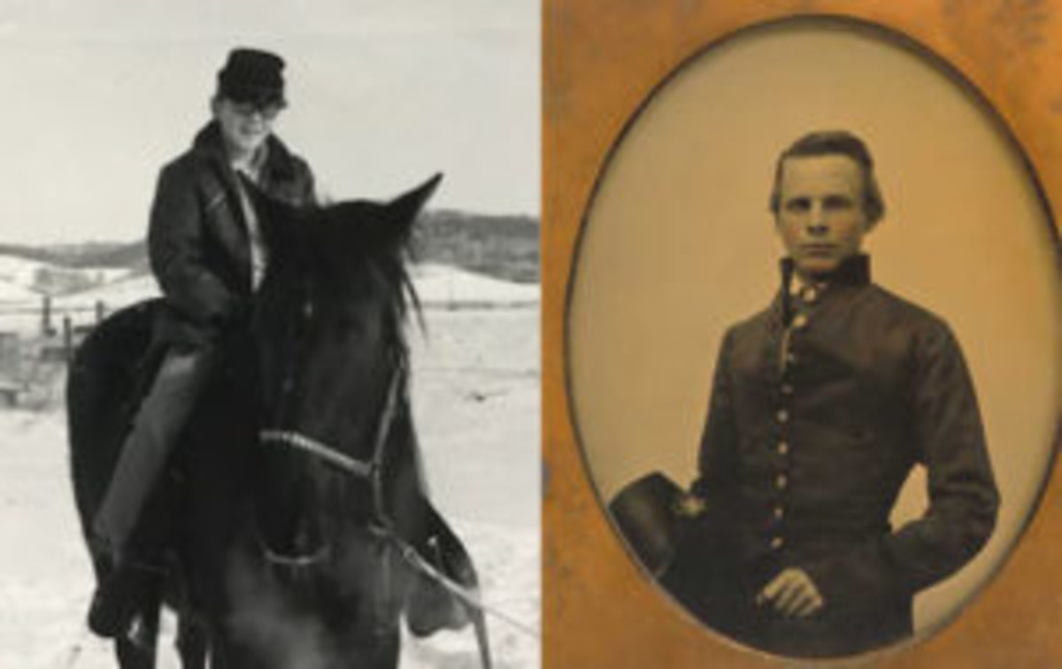 Time traveling Doppelgänger? Probably not, but when I was 12 years old (left) I wanted to believe I had once lived as Major John Pelham of the Stuart's Horse Artillery (right; half-plate ambrotype, ca. 1860 by Matthew Brady).