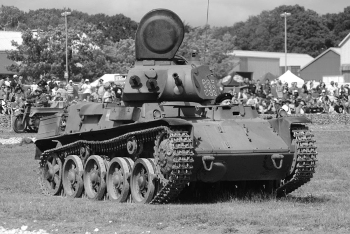 Designed by the neutral nation of Sweden, the M/40 was first tank in the world to be fitted with torsion bar suspension. The driver could operate the vehicle with his head out and armored vision blocks allowed him to drive with the hatch closed.