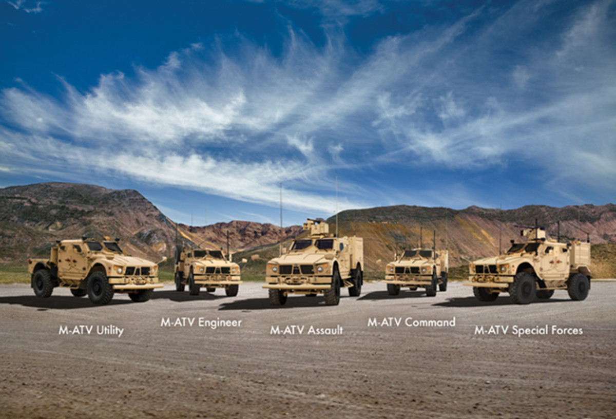 Oshkosh Defense trucks