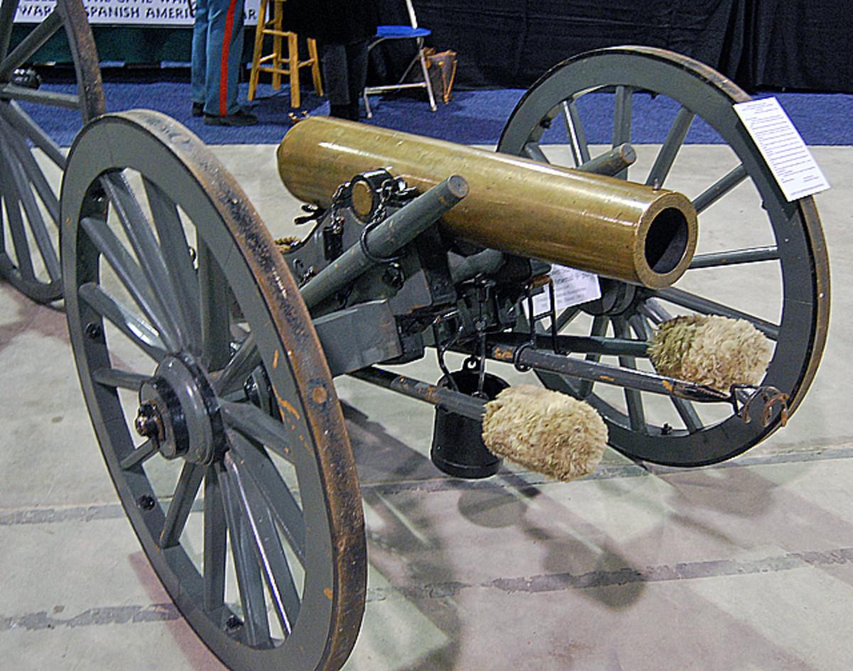 A Civil War-era field gun made up one of the impressive displays.