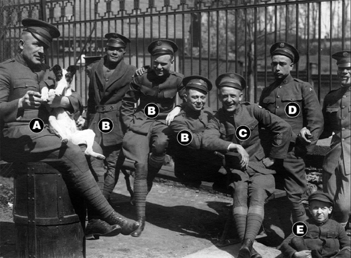 For more clarity and insight into Clive and his comrades, we need another photograph to reveal some important details. This time, everybody is in uniform and now Mason is standing second from the right, and yes,that is his smile.