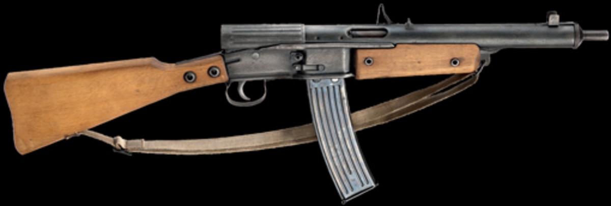 """Lot 1635: A Gustloff Volkssturmgewehr (""""VG 1 - 5""""), selfloader Cal. 8 x 33, no. Th. 6185 on left side of butt. SP: 8500 Euros"""