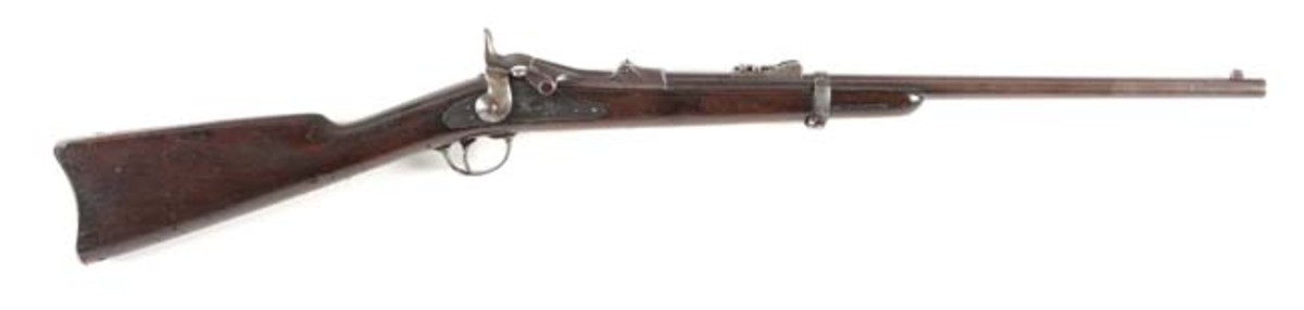 Early Custer 7th Cavalry Range US Model 1873 Springfield trapdoor carbine, manufactured December 1874. Photo - Morphy Auctions