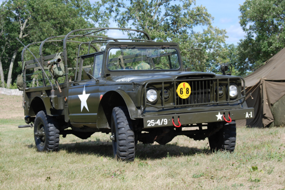 As a tribute to Charlene's brother-in-law who served in Vietnam, she painted the bumper markings to represent a truck from his unit, the 25th Infantry. Her son Bradley has furnished it with various packs, a helmet, and web gear.