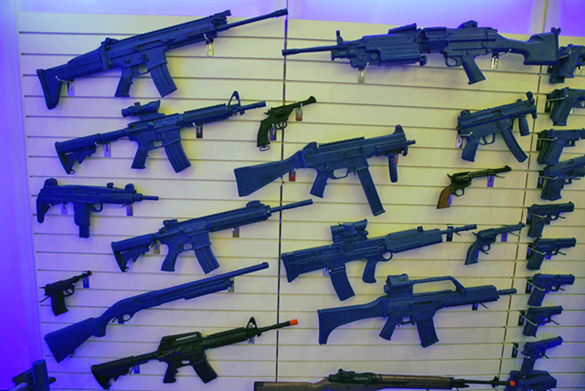 While available in 'blue' the line of solid resin Blueguns are also available in black and make an ideal alternative to real guns for displays.