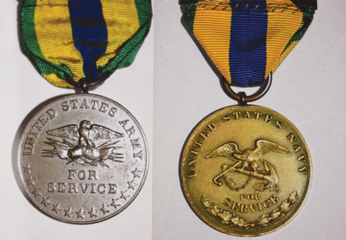 Mexican Service Medal reverses for the Army and Navy Versions, There was also a Marine Corps reverse in the Navy Version.