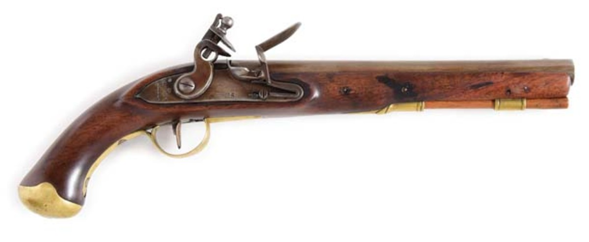 Joseph Henry contract single-shot US secondary martial flintlock pistol, 1807-1808. Ex Robert Sadler Collection. Photo - Morphy Auctions