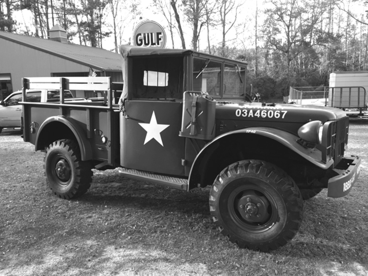 After seeing a couple of the M37s at local car shows, Tommy began his search for a reasonably priced M37. He wanted to recreate the one Uncle Sam loaned me 48 years ago.