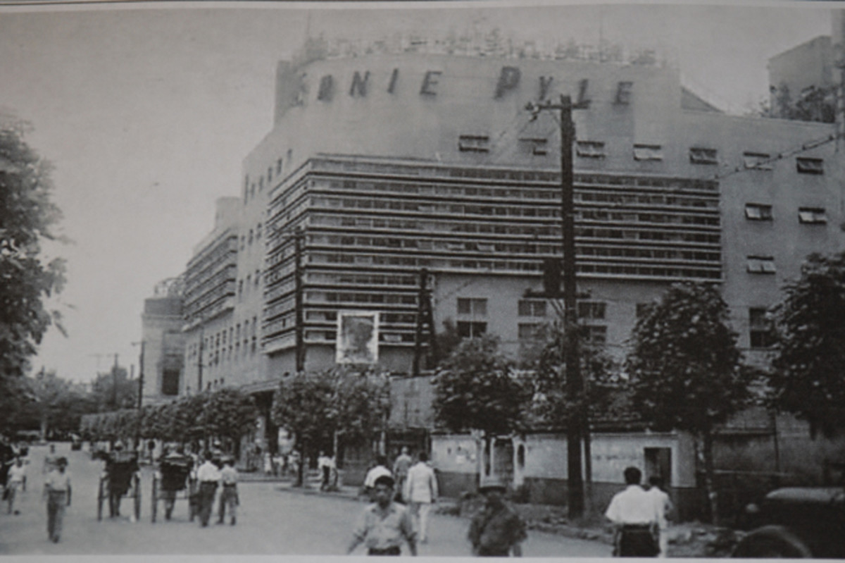 The old Takarazuke Theater (renamed the Ernie Pyle during the occupation) was returned to Japan and now replaced by a high-rise entertainment and office complex.