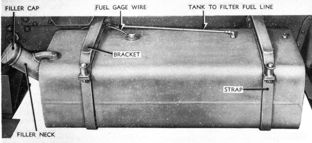 Most common HMVs have drain plugs on the bottom of their fuel tanks. Make sure the plug isn't rusted in place, then drain a little gas to check for water. If the plug's head is chewed up from pliers or Vise-Grips, replace it with a new one.