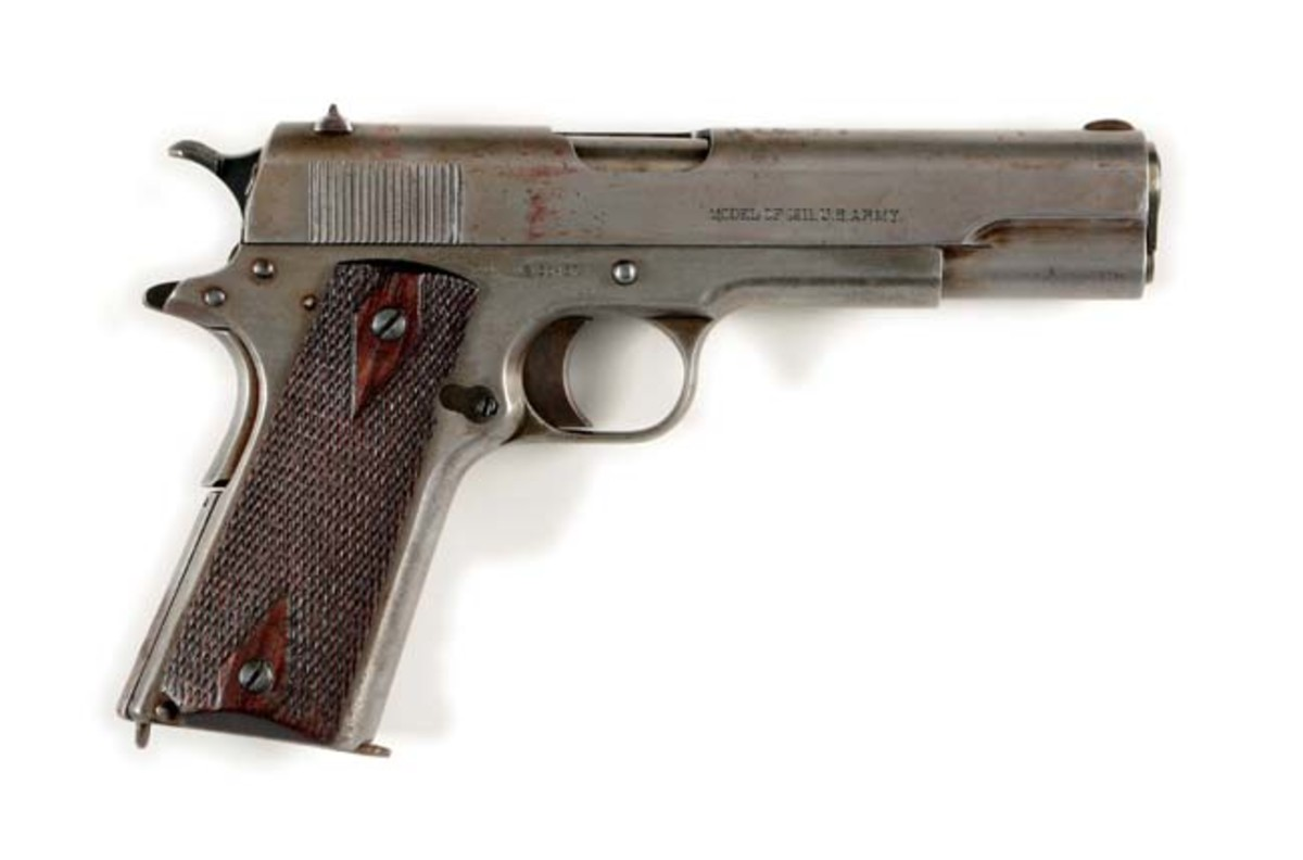 U.S. Marine Corps Colt Model 1911 semi-automatic pistol, shipped in 1913. Photo - Morphy Auctions