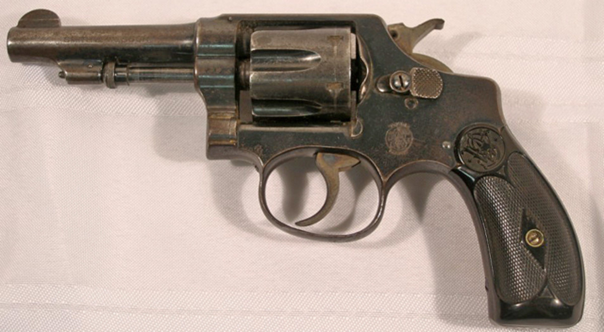 This gun – a Smith and Wesson .32L caliber revolver – was retrieved from the car Bonnie and Clyde were in at the time of their deaths.