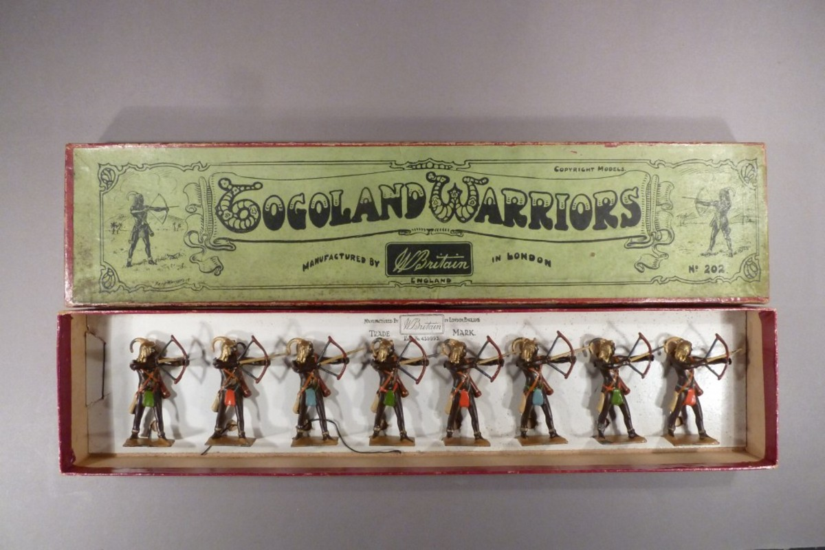 """In England, the market is stronger for the high-end soldiers such as boxed sets of Wm. Britains."""