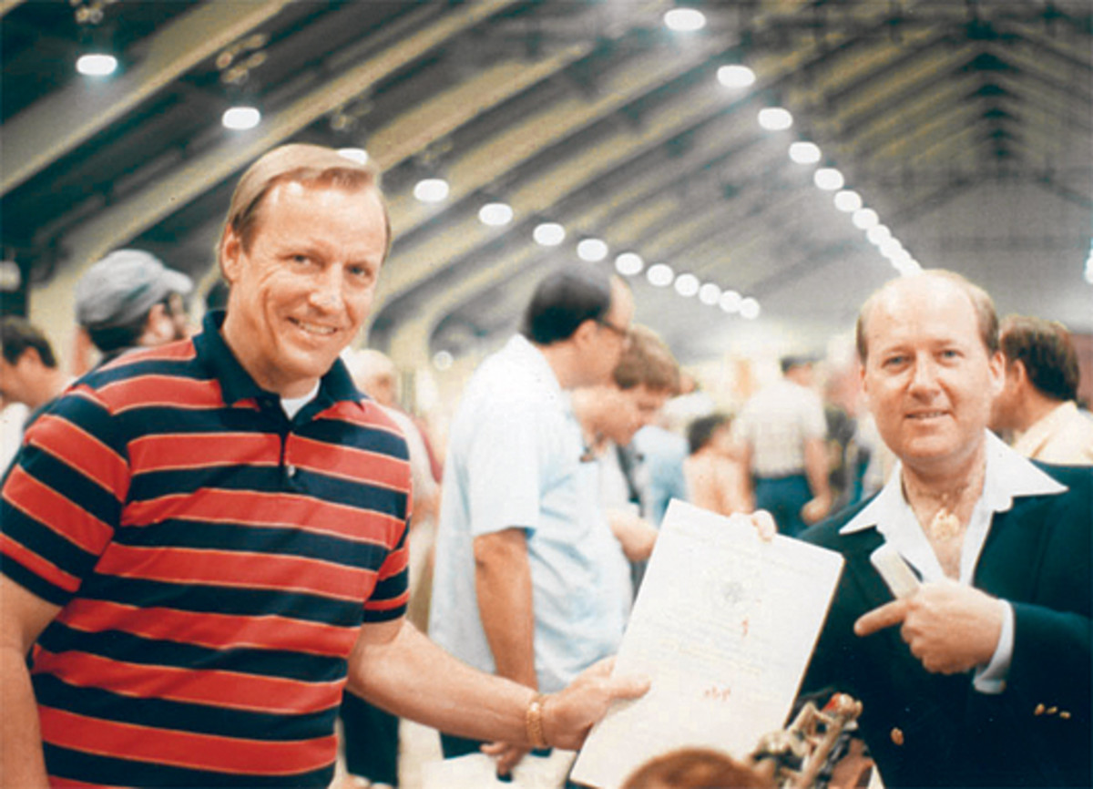 In 1984, the soon-to-be MAX Show Promoters, LTC (Ret) Thomas M. Johnson and Thomas T. Wittmann meet at the fabled Great Western Show in the L. A. Fair Grounds and point to the contract they have signed with the St Louis Chase Park Plaza Hotel to conduct the first MAX Show to be held in the ballroom of the hotel in the fall of 1985. The location was perfect, as it was in the center of the country. The hotel was glad to have the business, and exchange for 100% filling the rooms in the hotel, the two large ballrooms were given gratis to MAX. The rest is militaria history.