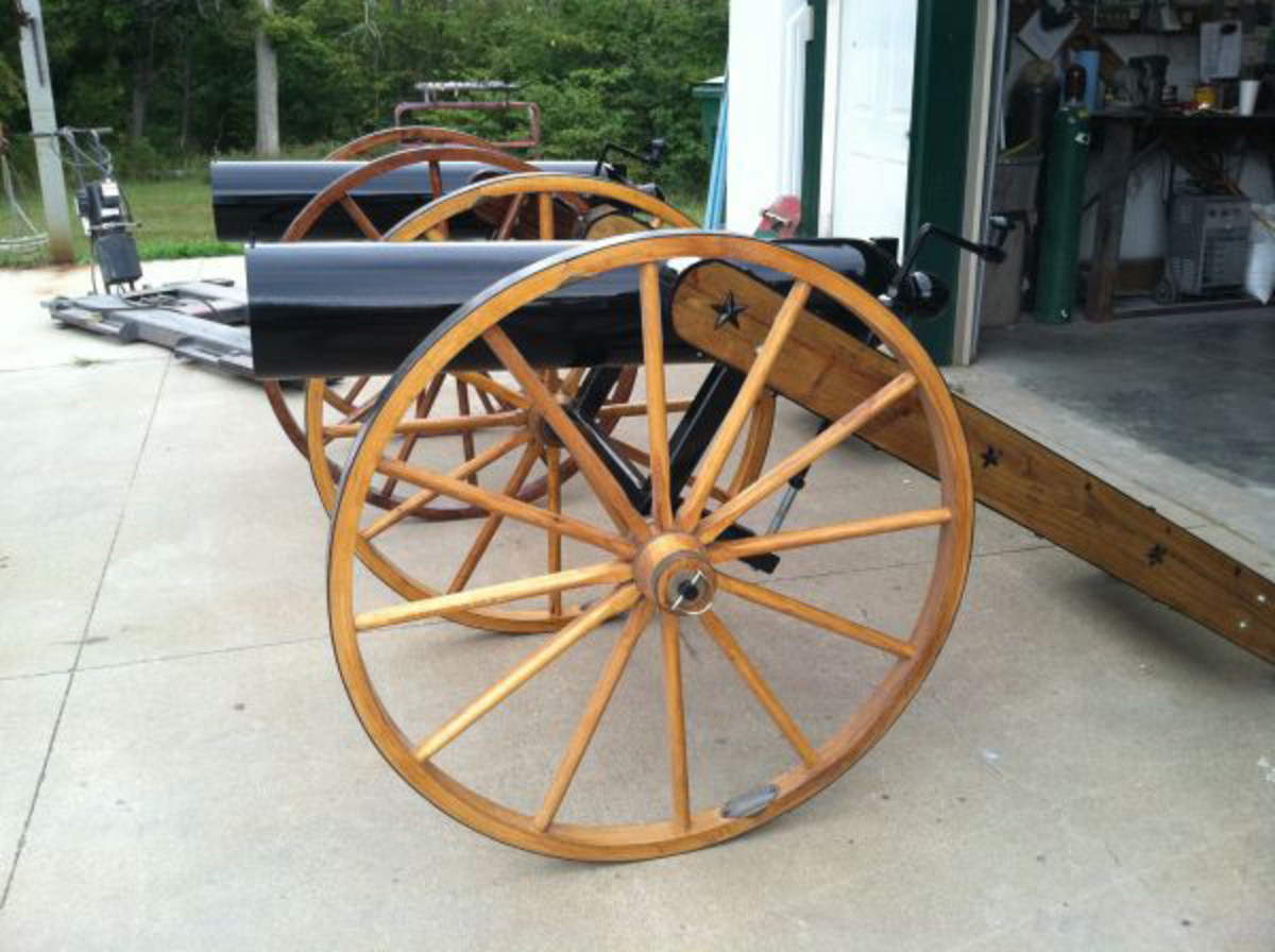 Also offered will be this pair of Civil War-style cannons, recently built and capable of shooting a 12-pound bowling ball a full mile downrange.